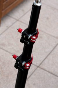 Stativ mit Fahrradschnellspanner